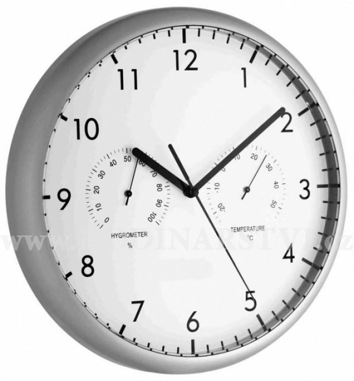 Nástěnné hodiny s teploměrem a vlhkoměrem TFA 98.1072 - Hodinářství.cz d742145f2e