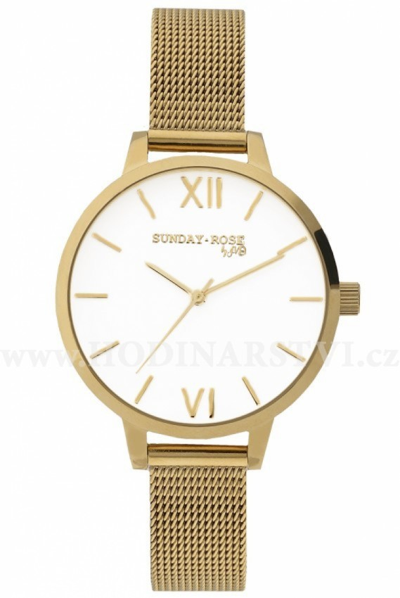 Hodinky SUNDAY ROSE Fashion Royal Gold SUN-F03 - Hodinářství.cz 11b96e4ecd