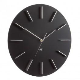 Designové nástěnné hodiny Future Time FT2010BK Round black 40cm