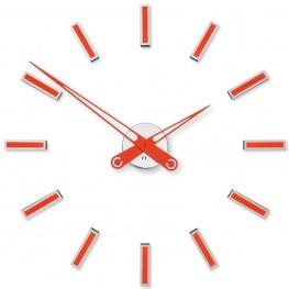 Designové nalepovací hodiny Future Time FT9600RD Modular red 60cm
