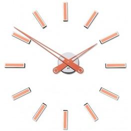 Designové nalepovací hodiny Future Time FT9600CO Modular copper 60cm