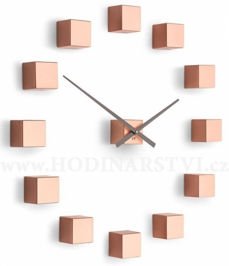 f0b0bdf4523 Designové nástěnné nalepovací hodiny Future Time FT3000CO Cubic copper
