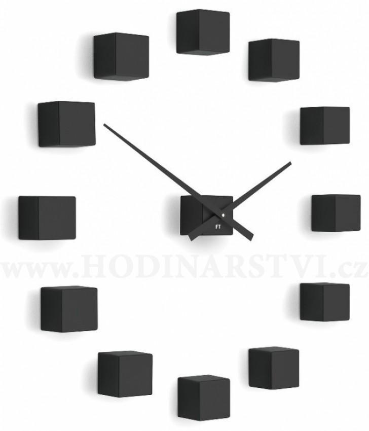 ffdd211d0f6 Designové nástěnné nalepovací hodiny Future Time FT3000BK Cubic black