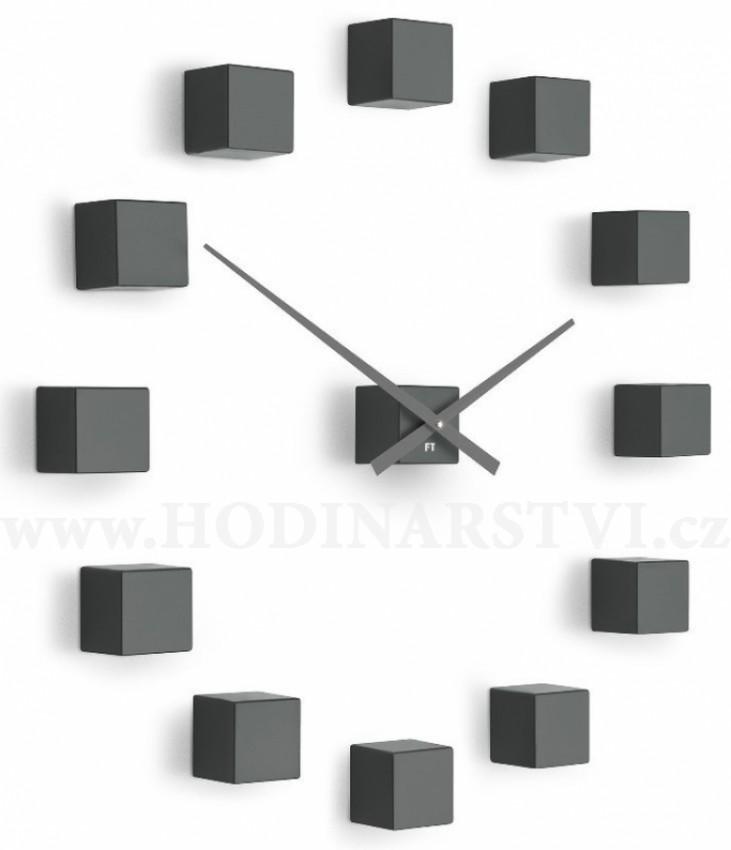 0ca469c6c55 Designové nástěnné nalepovací hodiny Future Time FT3000TT Cubic titanium