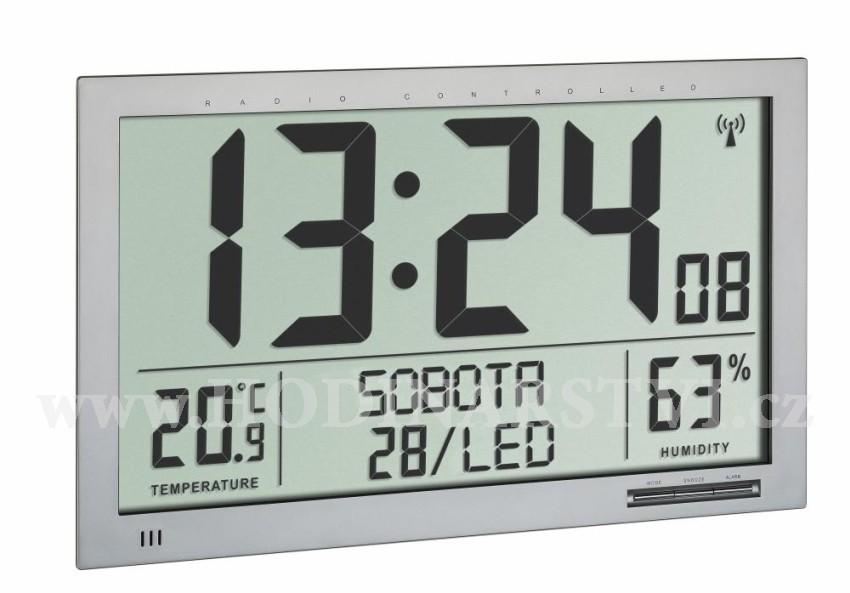 Nástěnné DCF hodiny TFA 60.4517.54 s teploměrem a vlhkoměrem - velikost XL d5529a6452