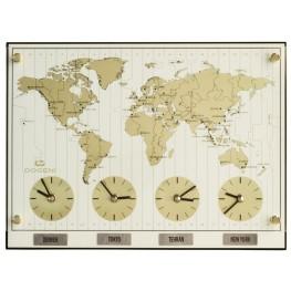 Nástěnné hodiny se světovými časy Dogeni WNW019WT
