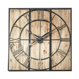 WOODEN VILLAGE WALL CLOCK 120 CM