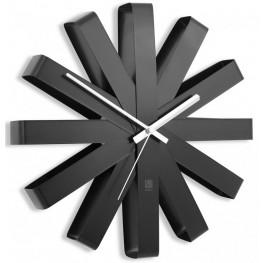 Nástěnné hodiny Umbra RIBBON 30 cm černé