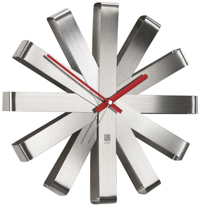 Nástěnné hodiny Umbra RIBBON ocelové