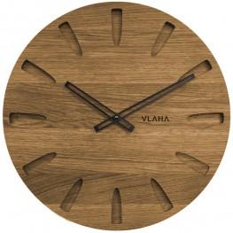 Dubové hodiny VLAHA VCT1022 vyrobené v Čechách s černými ručičkami