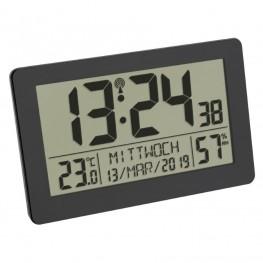 Rádiem řízené hodiny s teploměrem a vlhkoměrem TFA 60.2557.01