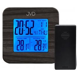 Budík s vnitřní a venkovní teplotou JVD SB2002.2