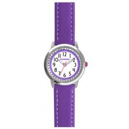 Fialové třpytivé dívčí hodinky se kamínky CLOCKODILE SPARKLE CWG5092