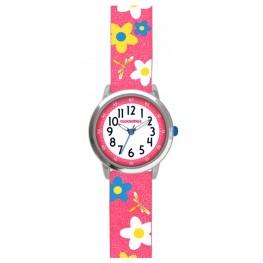 Květované růžové dívčí hodinky CLOCKODILE FLOWERS CWG5023
