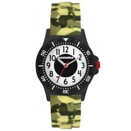 Svítící maskáčové sportovní chlapecké hodinky CLOCKODILE SPORT CWB0046
