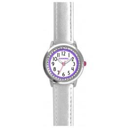 Stříbrné třpytivé dívčí hodinky se kamínky CLOCKODILE SPARKLE CWG5094