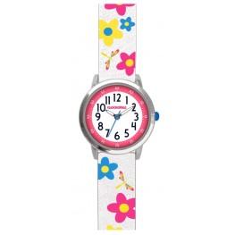 Květované bílé dívčí hodinky CLOCKODILE FLOWERS CWG5025
