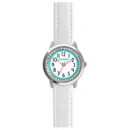 Bílé třpytivé dívčí hodinky se kamínky CLOCKODILE SPARKLE CWG5090