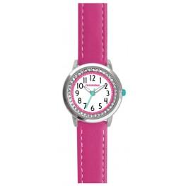Tmavě růžové třpytivé dívčí hodinky se kamínky CLOCKODILE SPARKLE CWG5093