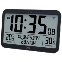JVD RB9385 - Rádiem řízené digitální hodiny se zobrazením dne a měsíce v češtině