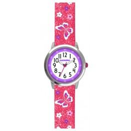 Motýlí růžové dívčí hodinky CLOCKODILE BUTTERFLIES CWG5042