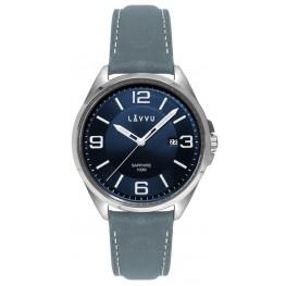 Pánské hodinky LAVVU LWM0094 HERNING Blue/Top Grain Leather