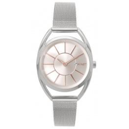 Stříbrné dámské hodinky MINET ICON SILVER ROSE MESH MWL5010