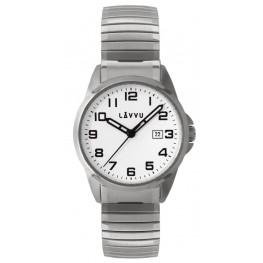 Pánské pružné hodinky LAVVU LWM0020 STOCKHOLM Big White