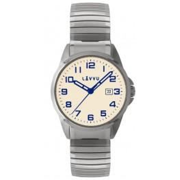 Pánské pružné hodinky LAVVU LWM0024 STOCKHOLM Big Beige