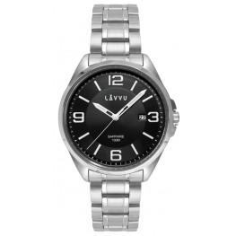 Pánské hodinky LAVVU LWM0092 HERNING Black