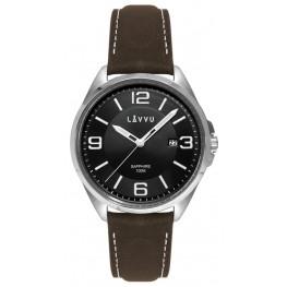 Pánské hodinky LAVVU LWM0095 HERNING Black/Top Grain Leather