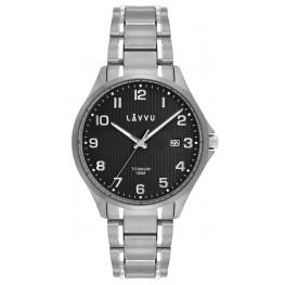 Extrémně lehké titanové hodinky LAVVU LWM0123 TITANIUM LILLEHAMMER Black