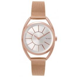 Růžové dámské hodinky MINET ICON ROSE GOLD MESH MWL5015