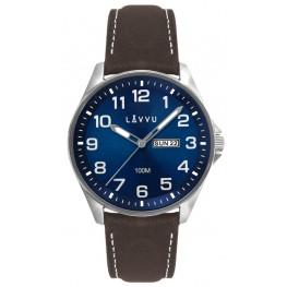 Ocelové pánské hodinky LAVVU LWM0144 BERGEN Blue/Top Grain Leather