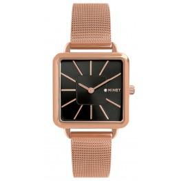 Rose gold dámské hodinky MINET OXFORD BLACK ROSE MWL5121