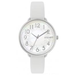 Bílé dámské hodinky MINET PRAGUE White Flower MWL5134