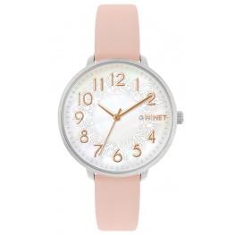 Růžové dámské hodinky MINET PRAGUE Pink Flower MWL5136