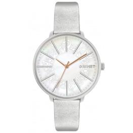 Stříbrné dámské hodinky MINET PRAGUE Silver Flower MWL5140