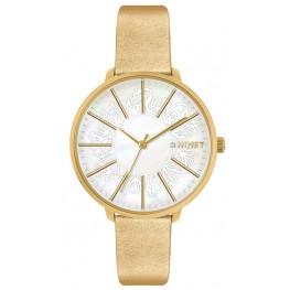 Zlaté dámské hodinky MINET PRAGUE Gold Flower MWL5141