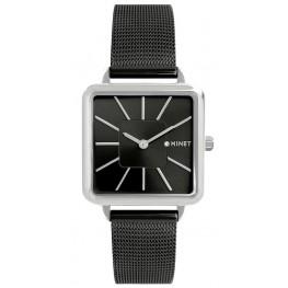 Černé dámské hodinky MINET OXFORD MIDNIGHT BLACK MESH MWL5112