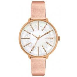 Rose gold dámské hodinky MINET PRAGUE Rose Flower MWL5142