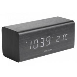 Designové LED hodiny s budíkem Karlsson KA5652BK 16cm