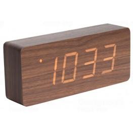 Designové LED hodiny s budíkem Karlsson KA5654DW 21cm