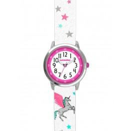 Bílé třpytivé dívčí hodinky s jednorožcem CLOCKODILE UNICORN CWG5111