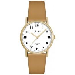Zlaté dámské titanové hodinky LAVVU LWL5031 MANDAL