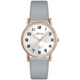 Rose gold dámské titanové hodinky LAVVU LWL5032 MANDAL