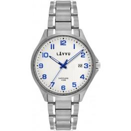 Titanové hodinky se safírovým sklem LAVVU LWM0150 TITANIUM LILLEHAMMER White