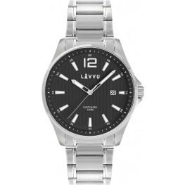 Pánské hodinky se safírovým sklem LAVVU LWM0162 NORDKAPP Black
