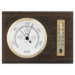 Barometr s teploměrem na dřevěné podložce B202210