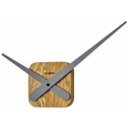 Minimalistické dubové hodiny české výroby KUBRi 0031
